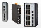 Industrial Ethernet switch with optical fiber